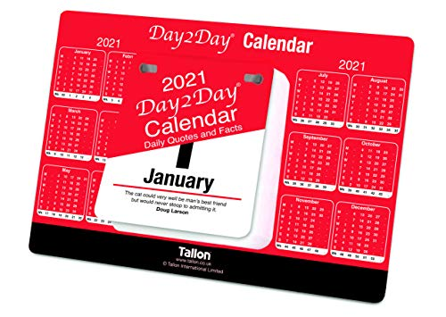 2019 Day To Day Desk Top Stand Up Tear Off Block Calendar - Daily Quotes & Facts from Atlona