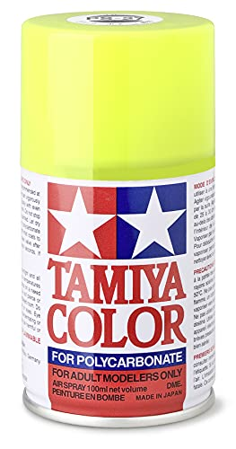 Tamiya PS-27 Polycarbonate Spray Paint 100ml Can Fluorescent Yellow For Clear RC from Tamiya