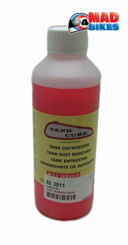 TankCure Rust Remover 500ml, Petrol Fuel Tank Classic Motorcycle Restoration from TankCure
