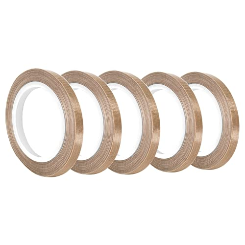 "TapeCase 0.125-36-134-5 (PK5) Tan Abrasion Resistant Fiberglass Tape Coated with PTFE 134-5, 36 yd. Length, 0.125"" Width (Pack of 5) from TapeCase"