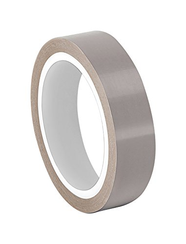 "TapeCase 0.75-5-2045-5 Grey Skived PTFE Film Tape, -100 to 500 Degree F Temperature Range, 5 yd. Length, 0.75"" Width from TapeCase"