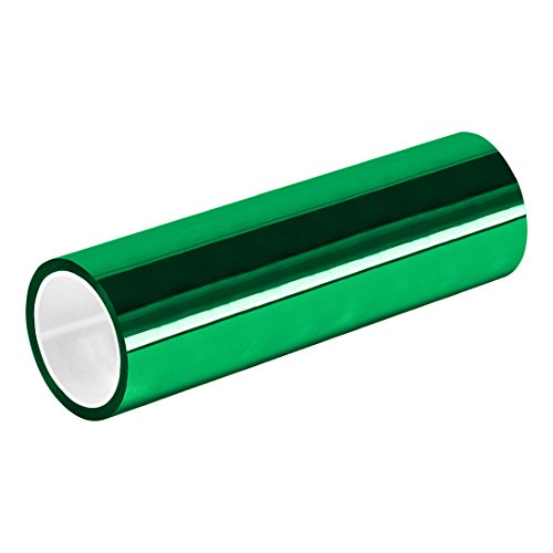 "TapeCase 10-5-MPFT-GREEN Green Metalized Polyester/Acrylic Adhesive Film Tape, 0.002"" Thick, 5 yd. Length, 10"" Width, 1 Roll from TapeCase"