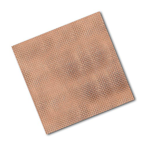 "TapeCase 1245 6"" x 6""-25 Copper/Acrylic Adhesive Embossed Foil Tape Converted from 3M 1245, 0.0083"" Thick, 6"" Length, 6"" Width (Pack of 25) from 3M"