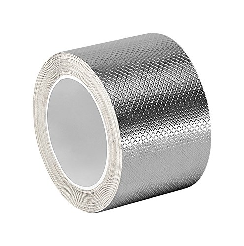 "TapeCase 1267 1.75"" x 18yd Silver Embossed Aluminium Foil Tape-Converted from 3M, 0.0083"" Thick, 18 yd. Length, 1.75"" Width from 3M"