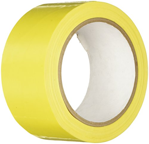 "TapeCase 3/8-72-414Y (CASE OF 2) Yellow UPVC/Rubber Adhesive Film Tape, 0.0023"" Thick, 72 yd. Length, 0.375"" Width (Pack of 2) from TapeCase"