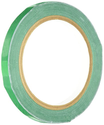 "TapeCase 3-72-414GRN Dark Green UPVC/Rubber Adhesive Film Tape, 0.0023"" Thick, 72 yd. Length, 3"" Width, 1 Roll from TapeCase"