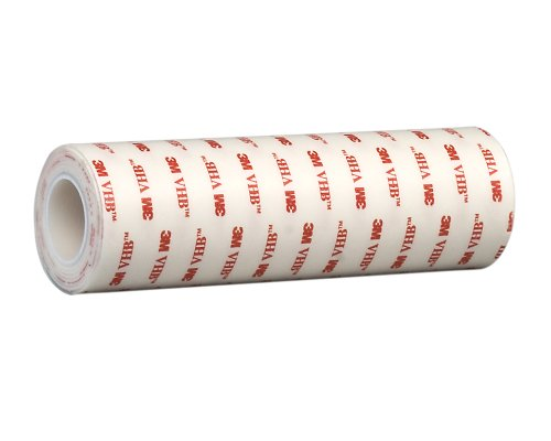 TapeCase 3.5-5-4950 VHB 4950 White Tape, 45 mil (1.1mm) Thick, 3.5in x 5yd Roll - (1 Roll) from 3M
