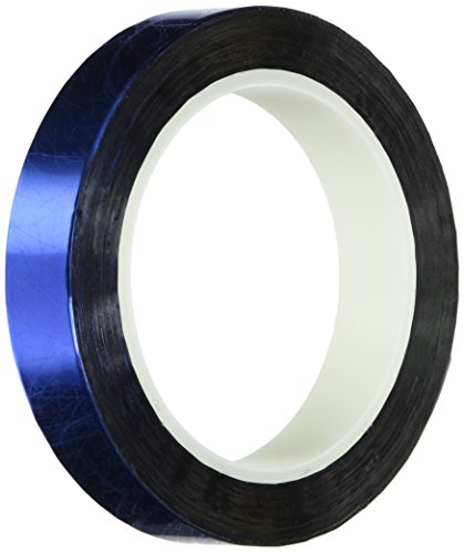 "TapeCase 34-5-MPFT-BLUE Blue Metalized Polyester/Acrylic Adhesive Film Tape, 0.002"" Thick, 5 yd. Length, 34"" Width, 1 Roll from TapeCase"