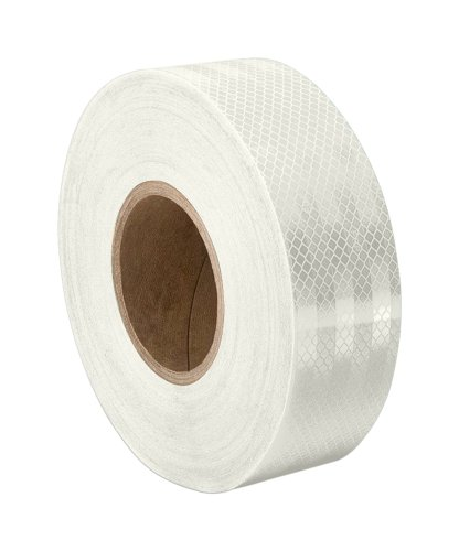 "TapeCase 3430 1.25"" x 50yd  White Micro Prismatic Sheeting Reflective Tape Converted from 3M 3430, 1.25"" x 50 yd from TapeCase"