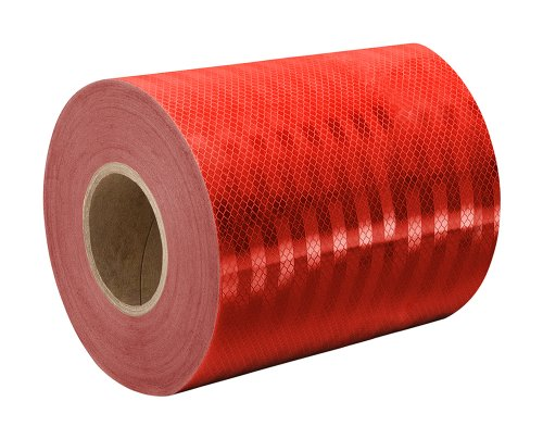 "TapeCase 3432 3.78"" x 50yd Red Micro Prismatic Sheeting Reflective Tape Converted from 3M 3432, 3.78"" x 50 yd. from TapeCase"