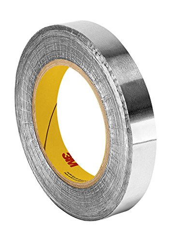 "TapeCase 438 1.125"" x 60yd Silver High Temperature Heavy Duty Aluminium/Acrylic Adhesive Foil Tape, 1.125"" x 60 yd Roll, 0.0072"" Thickness, 60"" Length, 1.125"" Width from 3M"