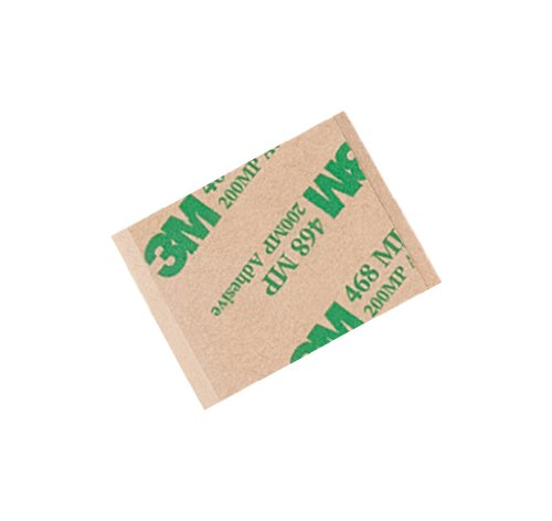"TapeCase 468MP 1.5"" x 1.25""-500 High Performance Adhesive Transfer Tape, Converted from 3M 468MP, 1.5"" x 1.25"" Rectangles (Pack of 500) from 3M"