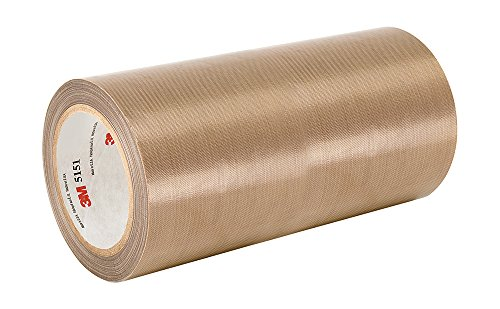"TapeCase 5453 7"" x 36yd Brown PTFE Glass Cloth Tape, Converted from 3M, -100 to 500 degrees F Performance Temperature, 0.0082"" Thick from 3M"