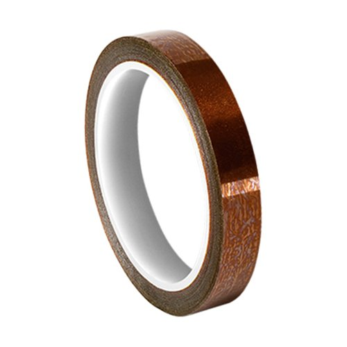 "TapeCase BA Series-0.25"" x 36yd(PK-2) Amber Polyimide/Acrylic Tape with Acrylic Adhesive, 6800 Dielectric Strength, 1 mil, 36 yd. Length, 0.25"" Width (Pack of 2) from TapeCase"