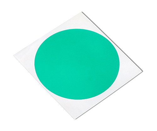 "TapeCase GD-4.000""-250 Green Polyester/Silicone Adhesive Tape with Liner, 4"" Length, 4"" Width, 4"" Diameter Circle (Pack of 250) from TapeCase"