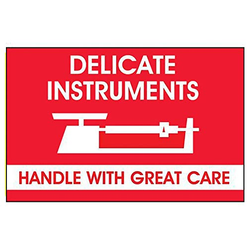 "TapeCase SHIPLBL-008""Delicate Instr, Handle With Care"" Label - 500 per pack (1 Pack) from TapeCase"