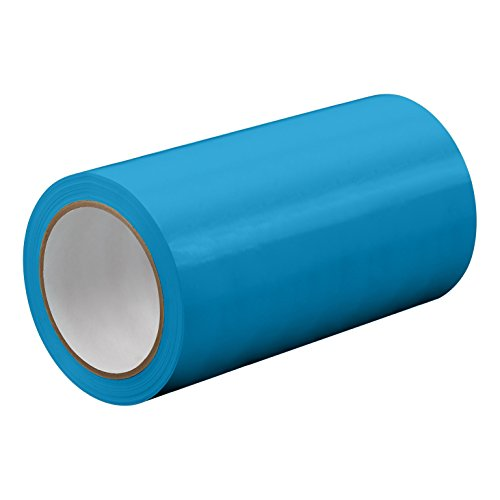 "TapeCase TC414-27"" X 72YD-LTBLUE Light Blue UPVC/Rubber Adhesive Film Tape, 0.0023"" Thick, 72 yd. Length, 27"" Width, 1 Roll from TapeCase"