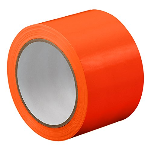 "TapeCase TC414-50"" X 72YD-ORANGE Orange UPVC/Rubber Adhesive Film Tape, 0.0023"" Thick, 72 yd. Length, 50"" Width, 1 Roll from TapeCase"