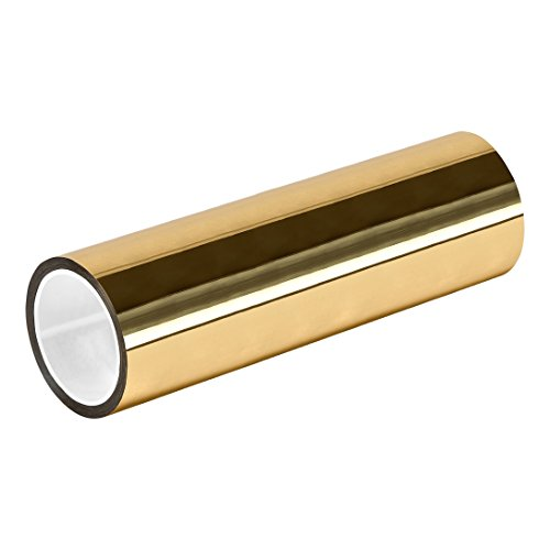 "TapeCase TC830 16"" X 72YD-GOLD Gold Metalized Polyester/Acrylic Adhesive Film Tape, 0.002"" Thick, 72 yd. Length, 16"" Width, 1 Roll from TapeCase"
