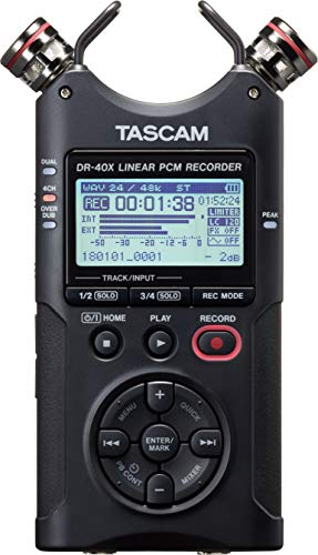 Tascam DR-40X Portable 4-Track Audio Recorder from TASCAM