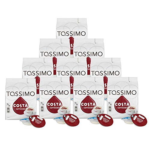 Costa Tassimo Cappuccino Coffee Pods, 80 Servings from Tassimo