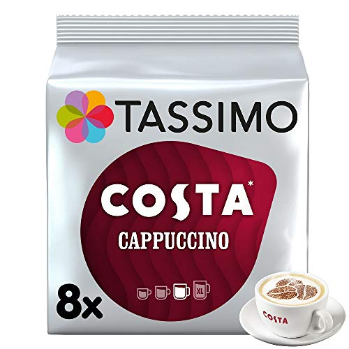 Tassimo Costa Cappuccino Coffee 16 Discs, 8 servings, Pack of 5 (Total 80 Discs/Pods, 40 Servings) from Tassimo