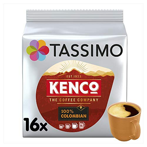 TASSIMO Kenco Colombian 16 Capsules (Pack of 5, Total 80 Capsules) from Tassimo
