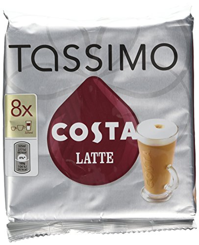Tassimo Costa Latte 16 T-discs (Extra Large Cup Size) 8 Servings New Pack Smoother & Silkier from Tassimo