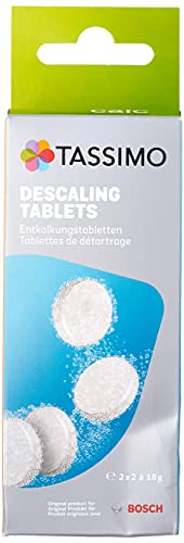 Tassimo TCZ6004 4 Tablets for 2 Descaling Processes, White from Tassimo