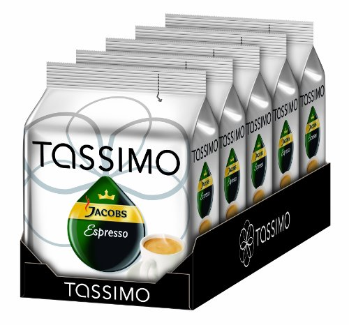 Tassimo Jacobs Espresso, Pack of 5, 5 x 16 T-Discs from Tassimo