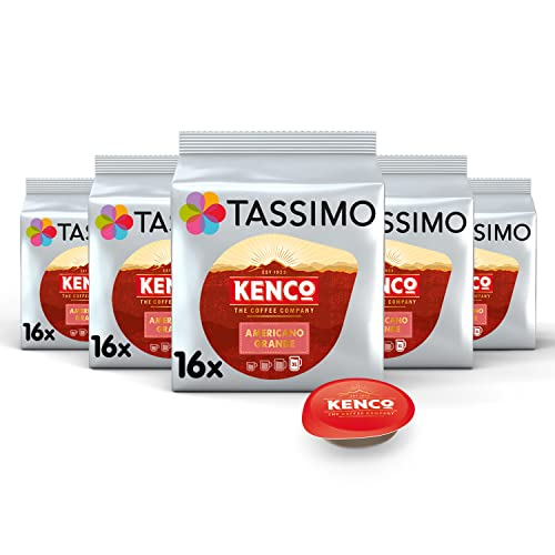 Tassimo Kenco Americano Grande Coffee Pods (Pack of 5, 80 pods in total, 80 servings) from Tassimo