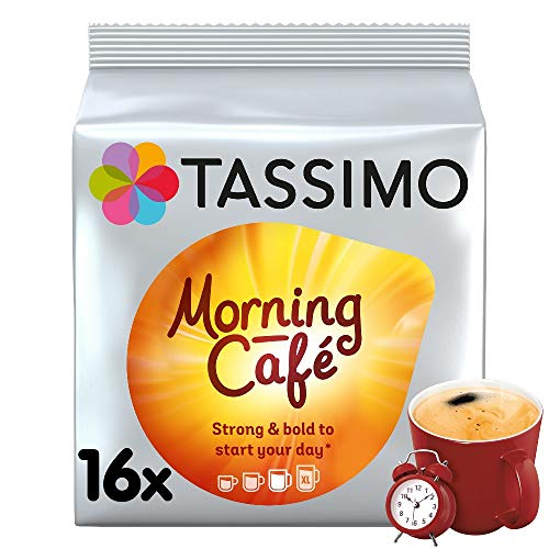 Tassimo Morning Cafe Coffee Pods (Pack of 5, 80 pods in total, 80 servings) from Tassimo