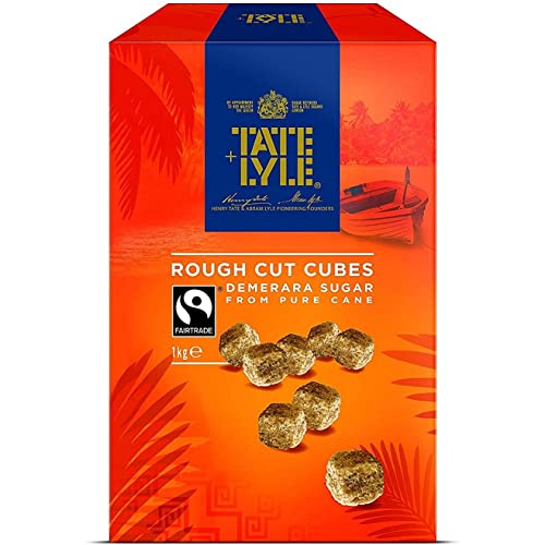Tate & Lyle Demerara Rough Cut Sugar Cubes 1 kg (Pack of 1) from Tate & Lyle's