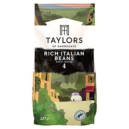 Taylors of Harrogate Rich Italian Coffee Beans, 227 g, Pack of 6 from Taylors of Harrogate