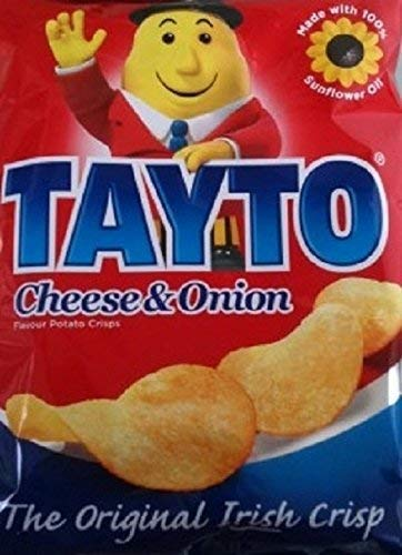 Tayto Ireland Cheese and Onion Crisps 8 x 25g Packs (E2 Version) from Tayto