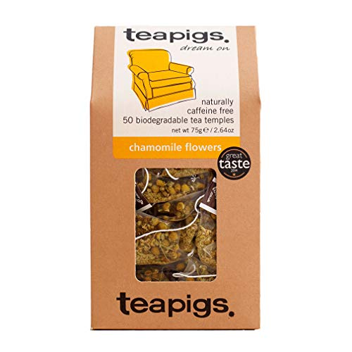 Teapigs Chamomile Herbal Tea Bags Made with Whole Flowers (1 Pack of 50 Teabags) from Teapigs