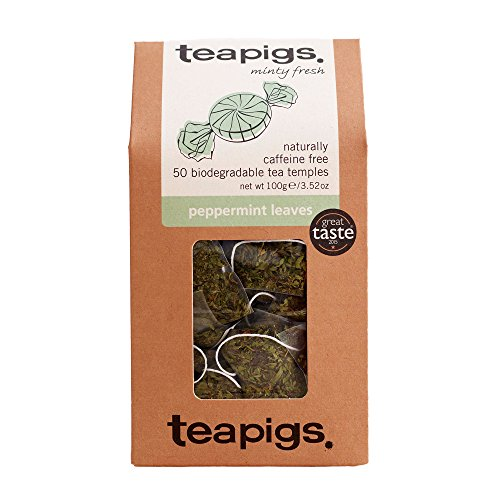 Teapigs Peppermint Herbal Tea Bags Made With Whole Leaves (1 Pack of 50 Teabags) from Teapigs