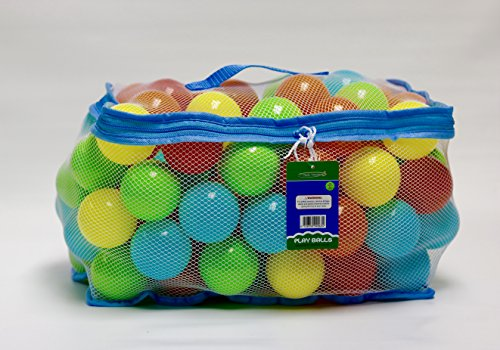 Tech Traders ® 100 Multi Coloured Play Balls (Net Carry Bag with Hand Tag) from Tech Traders