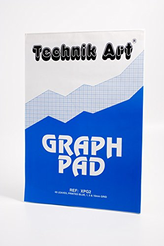 Clairefontaine Technik Art Graph Pad, A3, 1/5/10 mm Grid, 40 Leaves from Exacompta