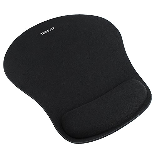 TeckNet Mouse Mat with Gel Rest - Non-slip Rubber base - Special-Textured Surface from TeckNet