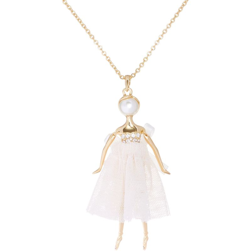 Ladies Ted Baker Gold Plated Bijou Pave Ballerina Pendant from Ted Baker Jewellery