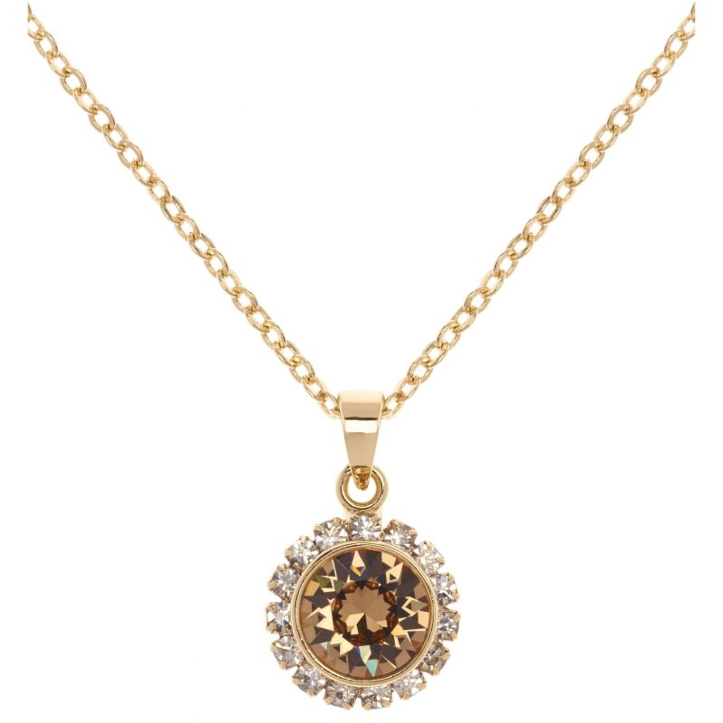 Ladies Ted Baker PVD Gold plated Sela Crystal Chain Pendant Necklace from Ted Baker Jewellery