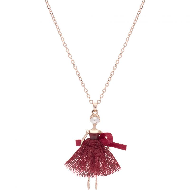 Ladies Ted Baker Rose Gold Plated Carabel Mini Ballerina Necklace from Ted Baker Jewellery