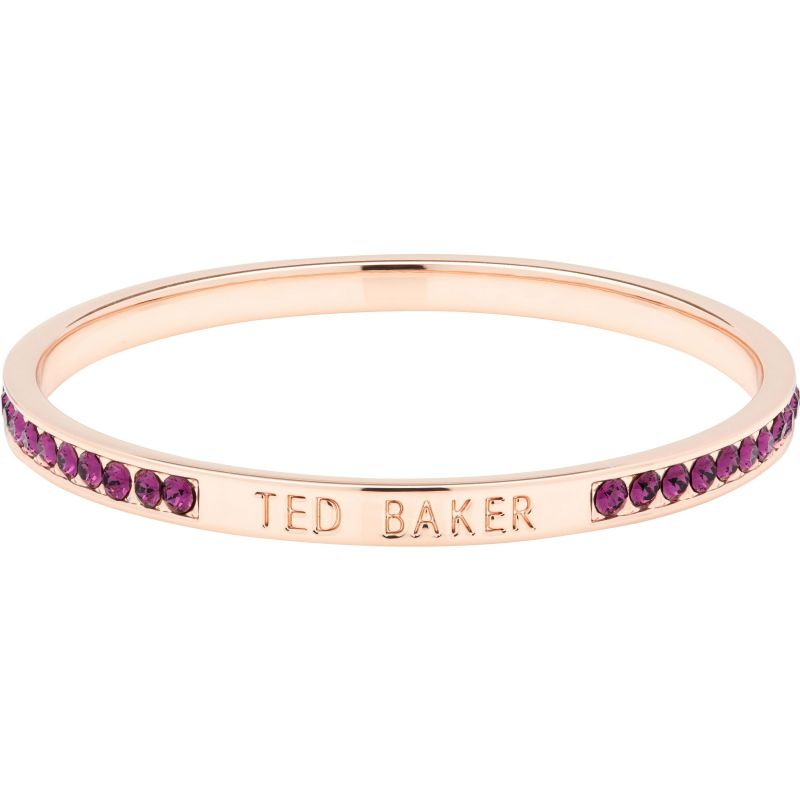 Ladies Ted Baker Rose Gold Plated Clem Narrow Crystal Band Bangle from Ted Baker Jewellery