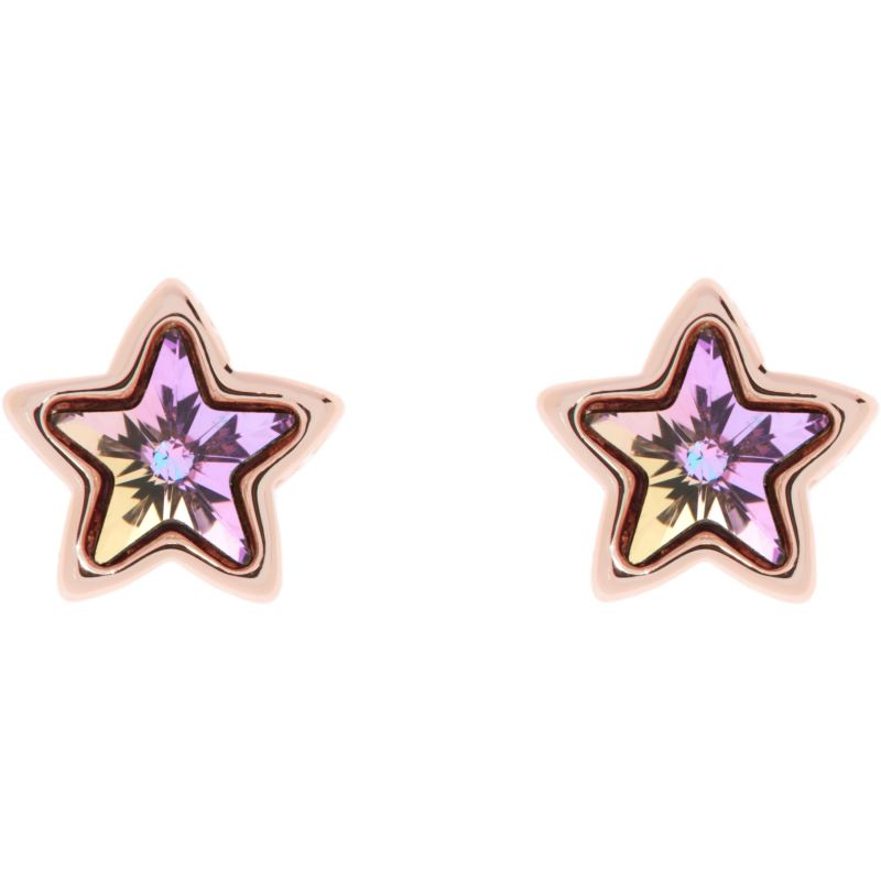 Ladies Ted Baker Rose Gold Plated Crystal Star Earrings from Ted Baker Jewellery