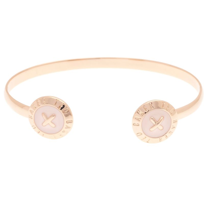 Ladies Ted Baker Rose Gold Plated Eida Enamel Double Button Cuff from Ted Baker Jewellery