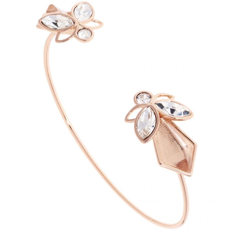 Ladies Ted Baker Rose Gold Plated Gemiaa Geometric Bee Bangle from Ted Baker Jewellery