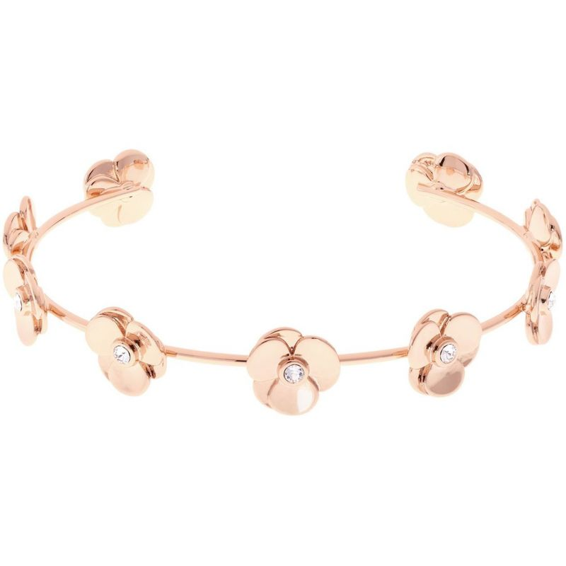 Ladies Ted Baker Rose Gold Plated Parsia Pressed Flower Bangle from Ted Baker Jewellery