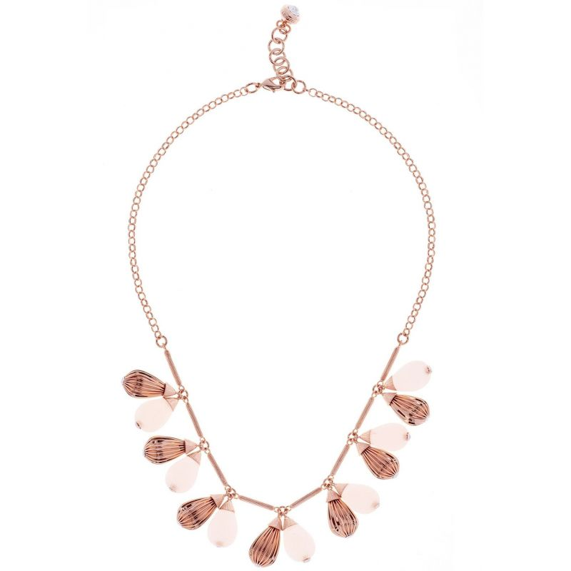 Ladies Ted Baker Rose Gold Plated Polina Mini Plisse Necklace from Ted Baker Jewellery