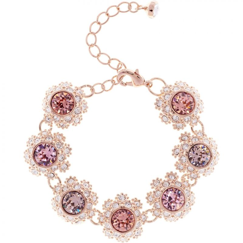Ladies Ted Baker Rose Gold Plated Seah Crystal Daisy Lace Bracelet from Ted Baker Jewellery